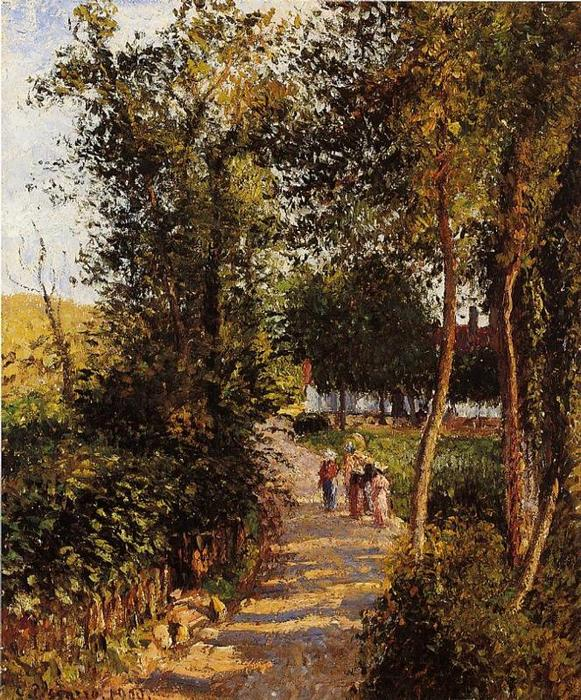 famous painting Camino a Berneval-le-Petit of Camille Pissarro