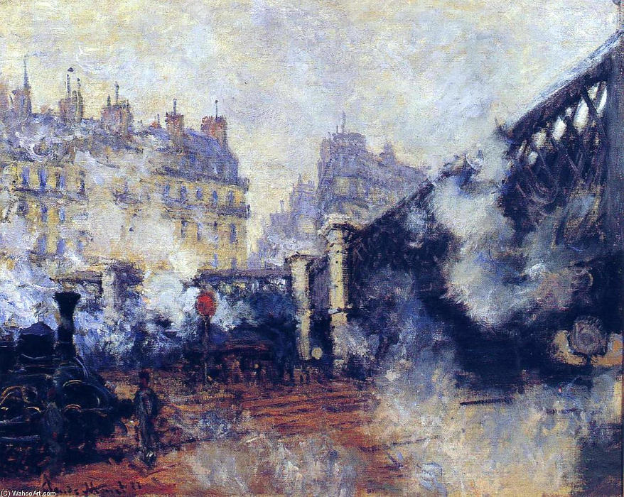 Pedir Reproducciones De Arte | el pont de l'Europe , Gare Saint-Lazare de Claude Monet | Most-Famous-Paintings.com