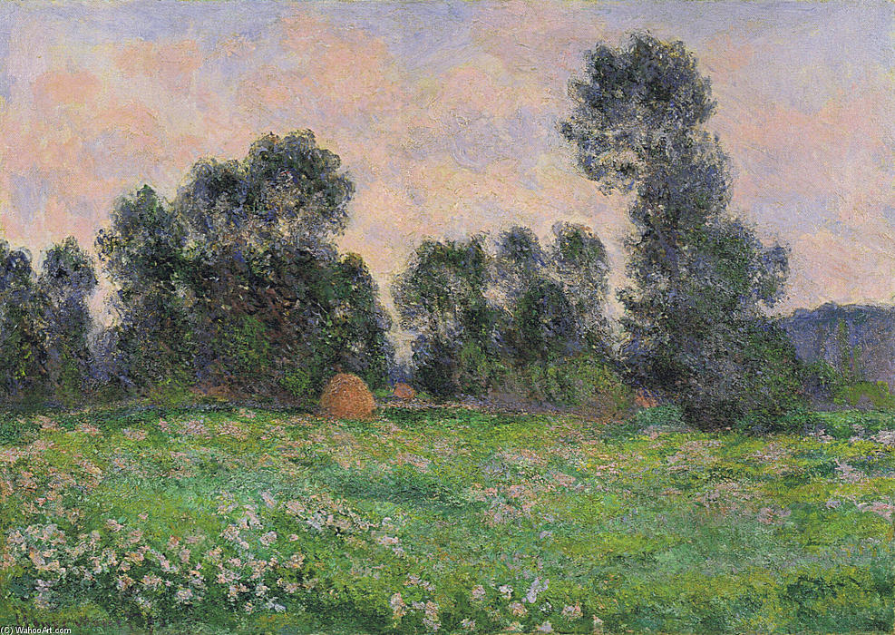 famous painting prado in Giverny of Claude Monet