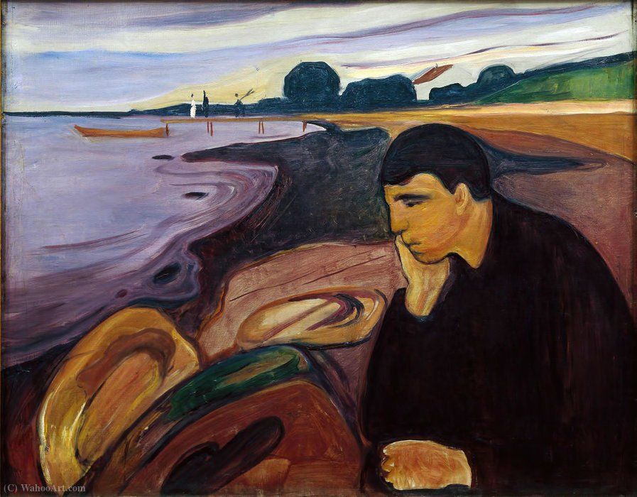 famous painting Melancolía of Edvard Munch