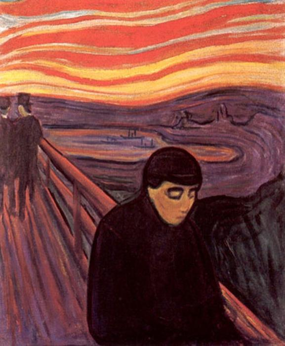 famous painting Desesperación of Edvard Munch