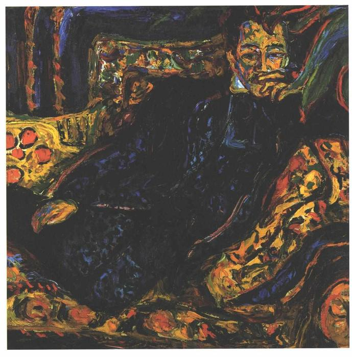 famous painting retrato de hans frisch of Ernst Ludwig Kirchner