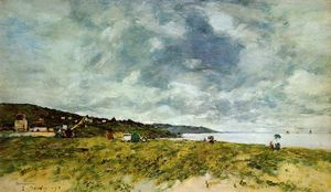 Eugène Louis Boudin - The Shore en Tourgeville