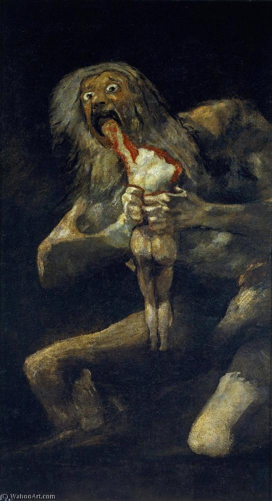 Pedir Copia De La Pintura : Saturno devorando a un hijo de Francisco De Goya | Most-Famous-Paintings.com