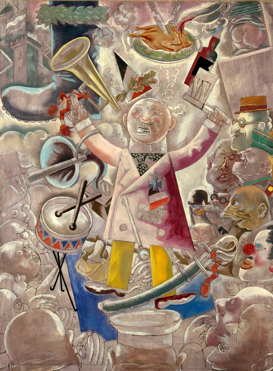 | El Agitador de George Grosz | Most-Famous-Paintings.com