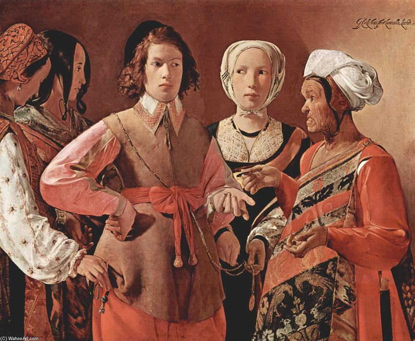 famous painting Los Fortune-Teller of Georges De La Tour