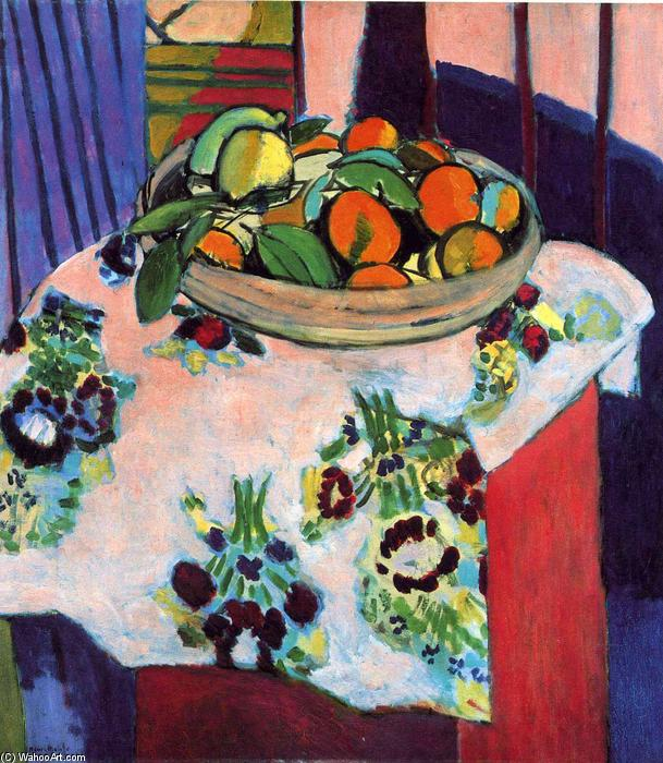 | canasta con naranjas de Henri Matisse | Most-Famous-Paintings.com