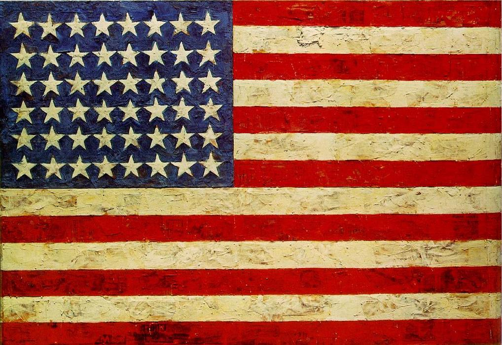 famous painting bandera of Jasper Johns
