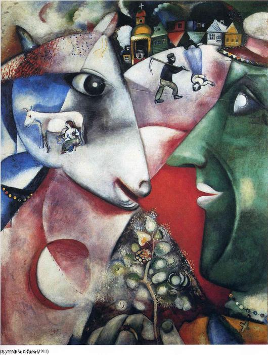 | yo y el pueblo de Marc Chagall | Most-Famous-Paintings.com