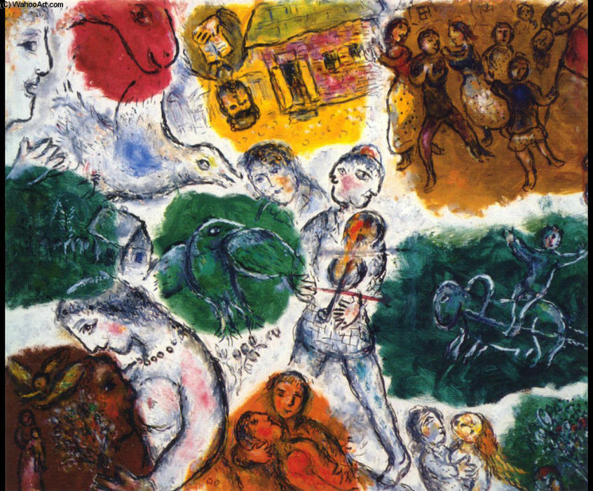 famous painting composición of Marc Chagall