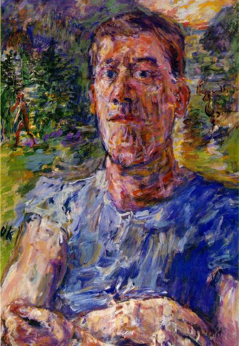 | Self-portrait de un 'Degenerate Artist' de Oskar Kokoschka | Most-Famous-Paintings.com