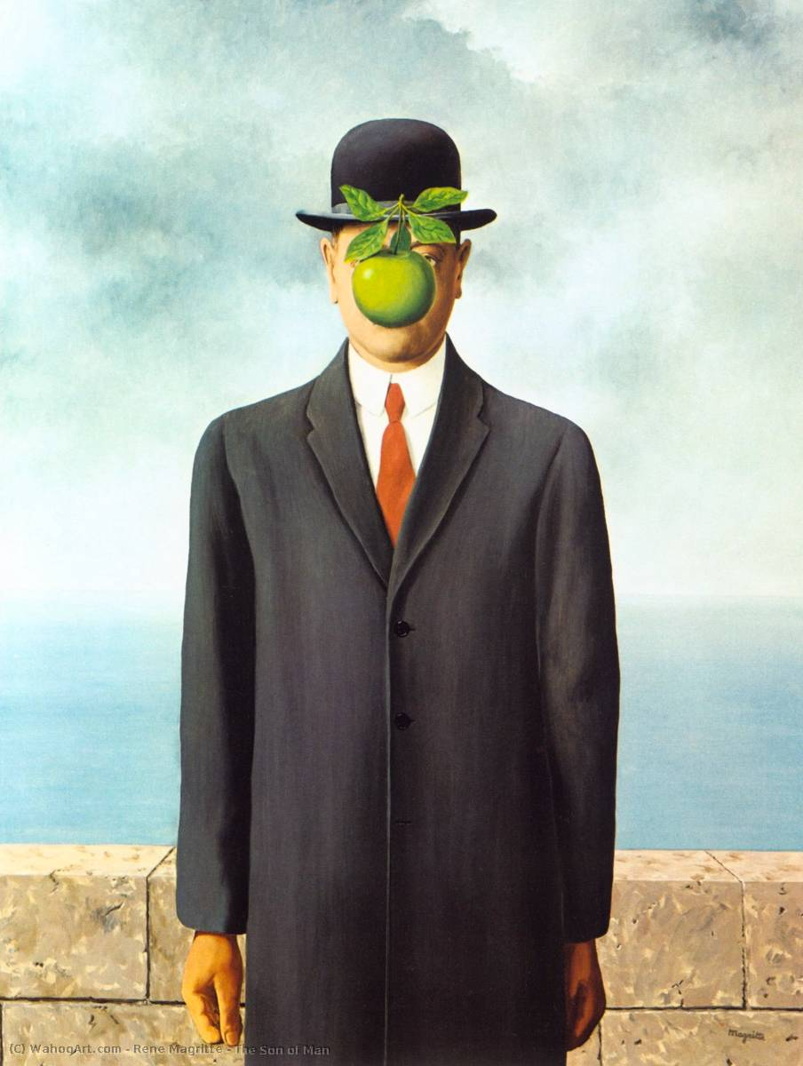 famous painting el hijo del hombre of Rene Magritte