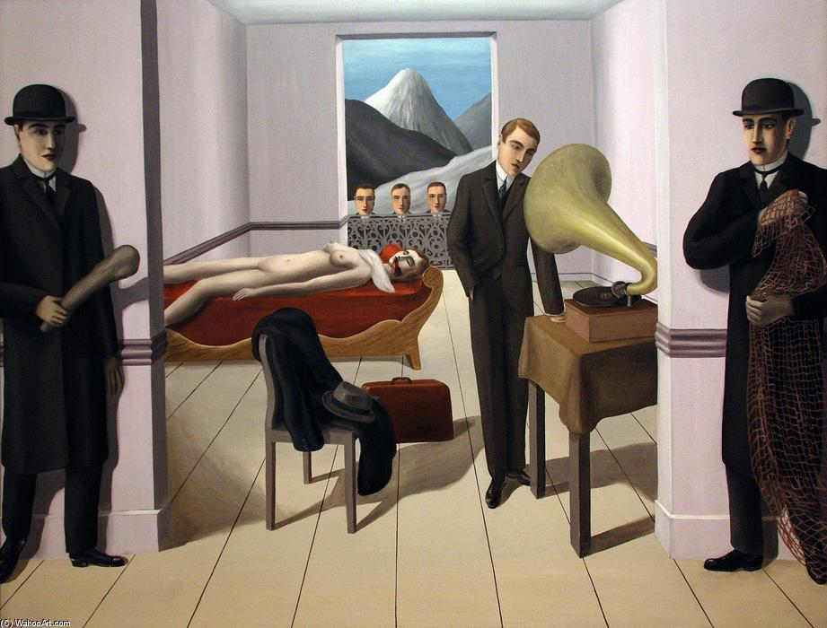 famous painting El amenazado Asesino  of Rene Magritte