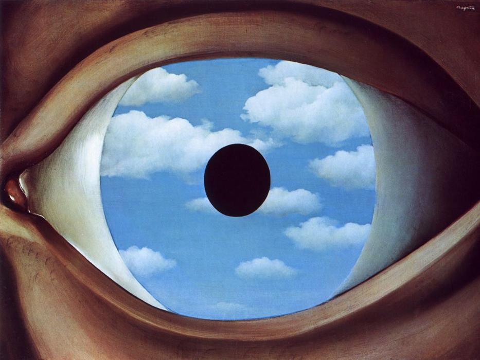 famous painting El falso espejo  of Rene Magritte
