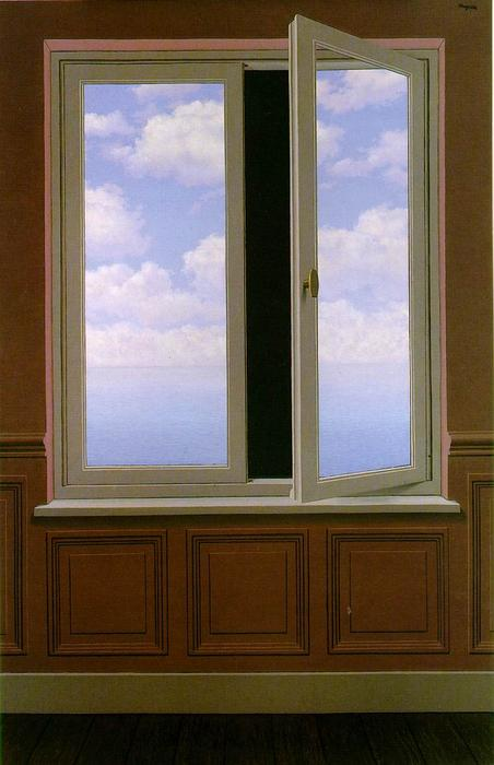 famous painting el buscando  vidrio  of Rene Magritte