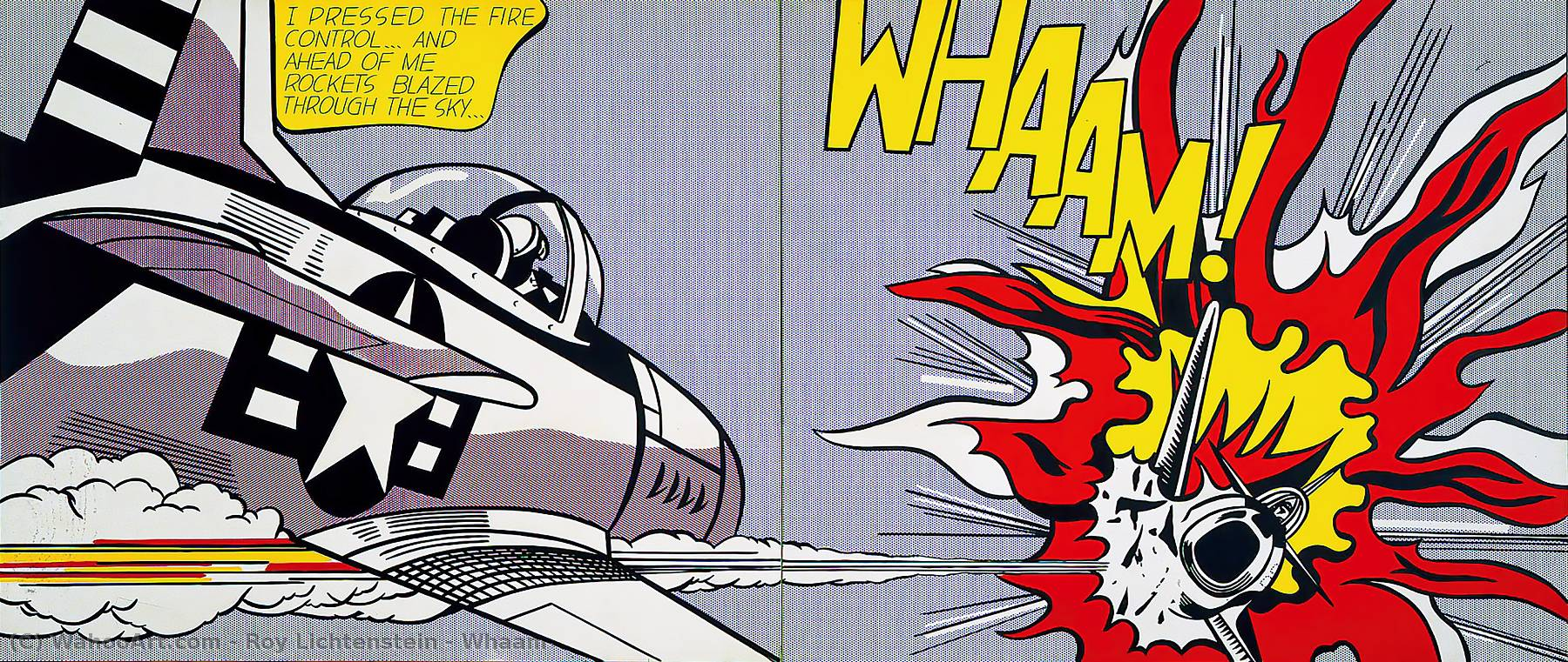 famous painting Whaam ! of Roy Lichtenstein