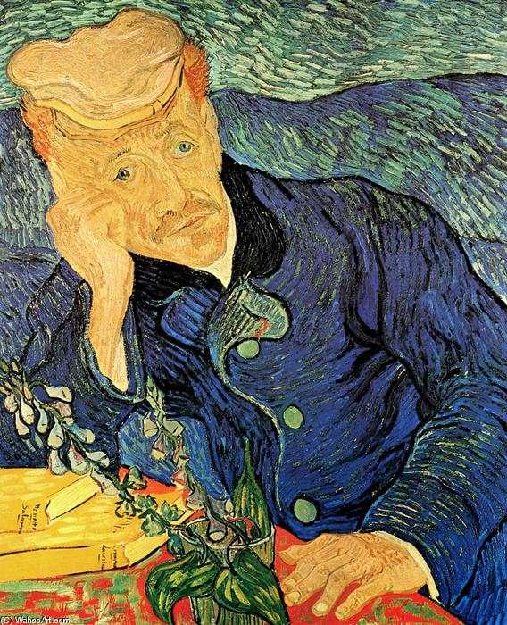 famous painting El Dr. Paul Gachet of Vincent Van Gogh