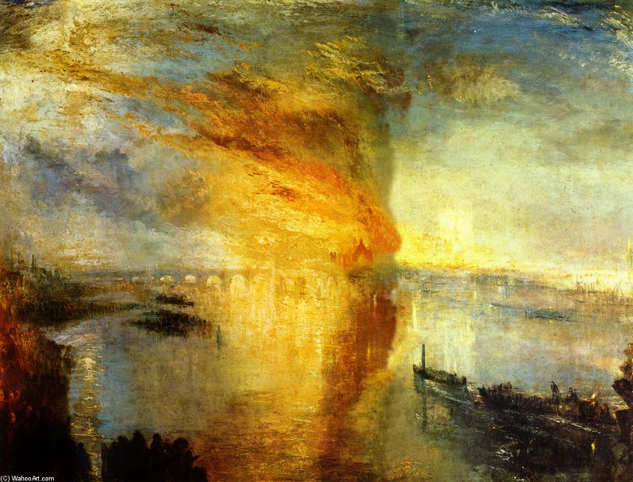 Pedir Reproducciones De Pinturas | la quema todaclasede  el  casas  todaclasede  el Parlamento  de William Turner | Most-Famous-Paintings.com