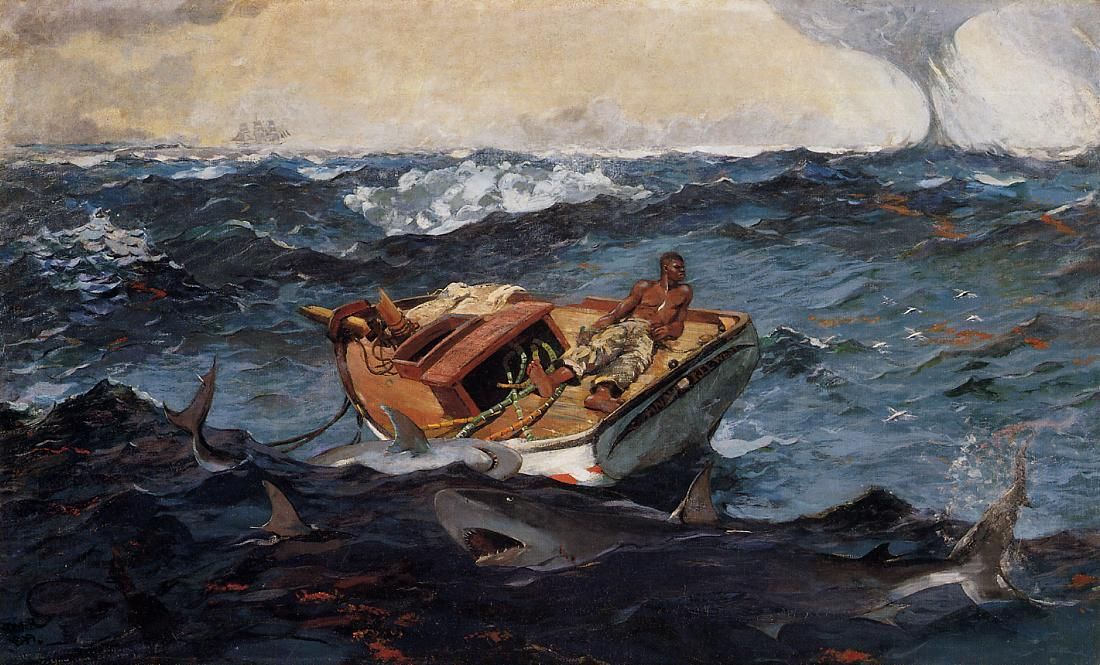 Pedir Reproducciones De Bellas Artes | la corriente del golfo de Winslow Homer | Most-Famous-Paintings.com