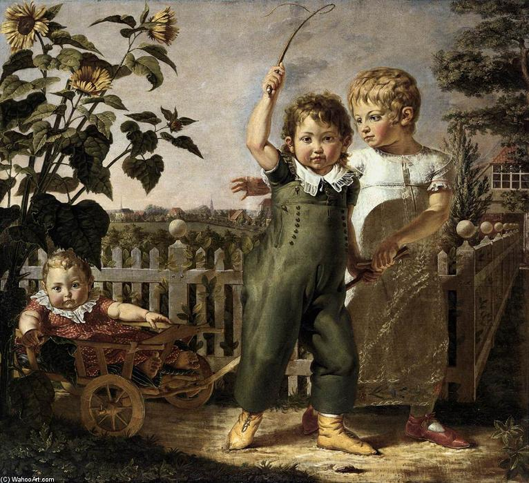 famous painting los niños hülsenbeck of Philipp Otto Runge
