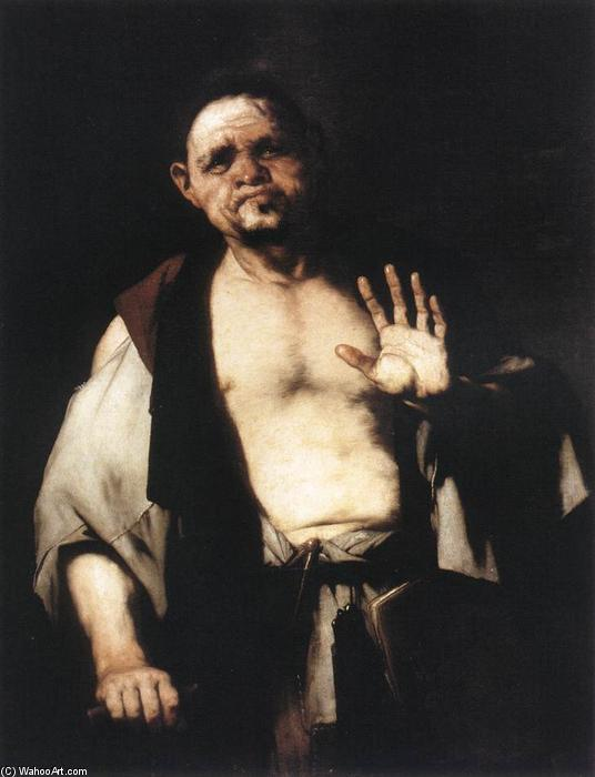 famous painting El Filósofo Cratetes of Luca Giordano