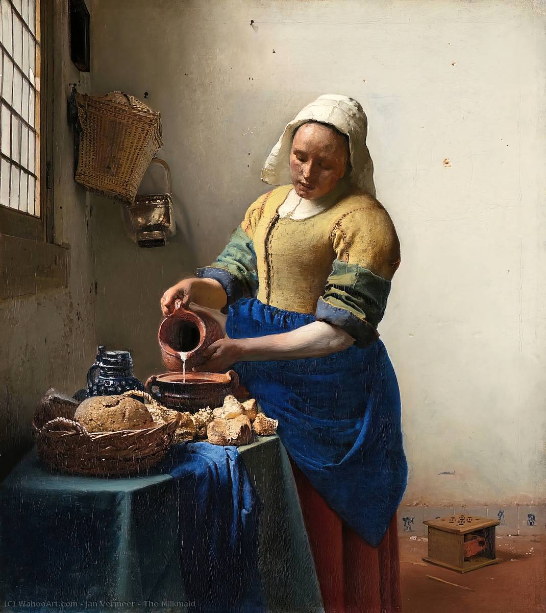 famous painting La lechera of Jan Vermeer