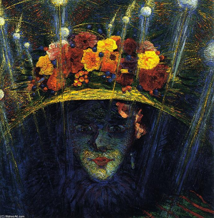 famous painting moderna ídolo  of Umberto Boccioni