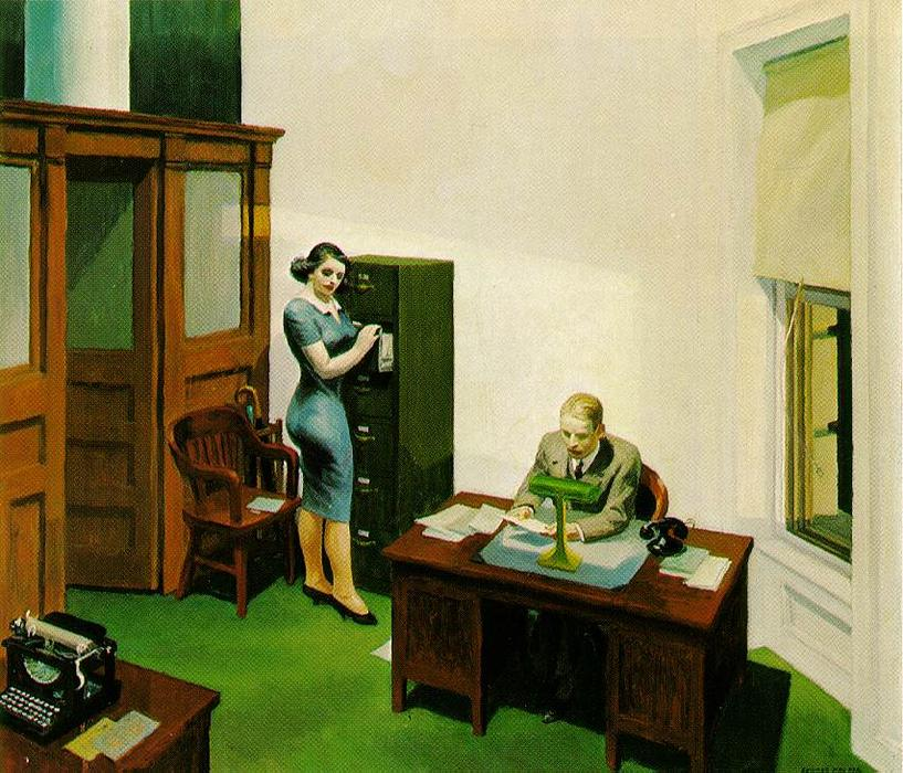 famous painting oficina en la noche of Edward Hopper
