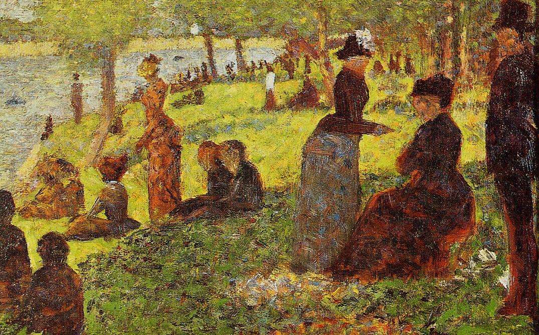 famous painting Bosquejo con muchas figuras of Georges Pierre Seurat