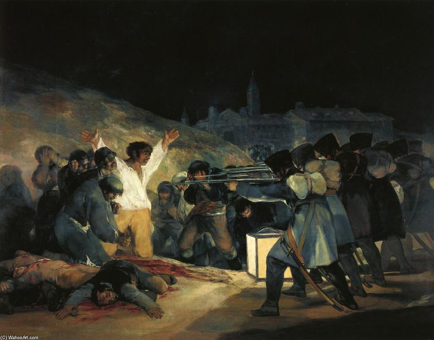 famous painting El tres de mayo de en Madrid 1808 of Francisco De Goya