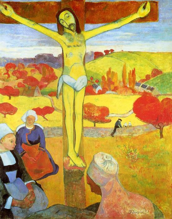 Pedir Reproducciones De Bellas Artes | amarillo cristo de Paul Gauguin | Most-Famous-Paintings.com