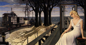 Paul Delvaux - Oscuridad