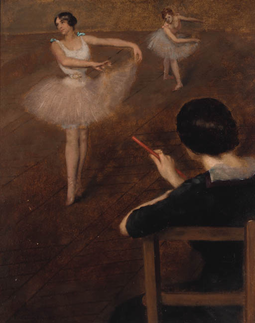 famous painting el ballet clase  of Albert Ernest Carrier Belleuse