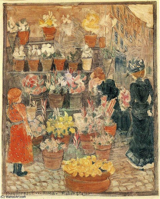 famous painting sin título (527) of Maurice Brazil Prendergast