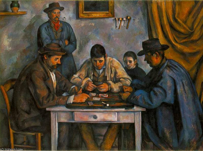 famous painting Los jugadores de cartas of Paul Cezanne