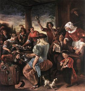 Jan Steen - una fiesta alegre