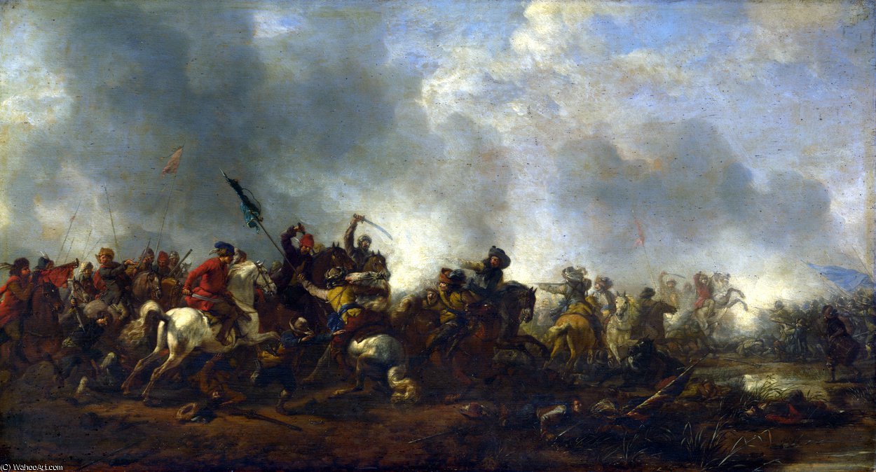 famous painting caballería agresor  Infantería  of Philips Wouwerman