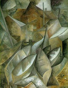 Georges Braque - Pesca barcos , Museo de bellas artes , Houston , Te
