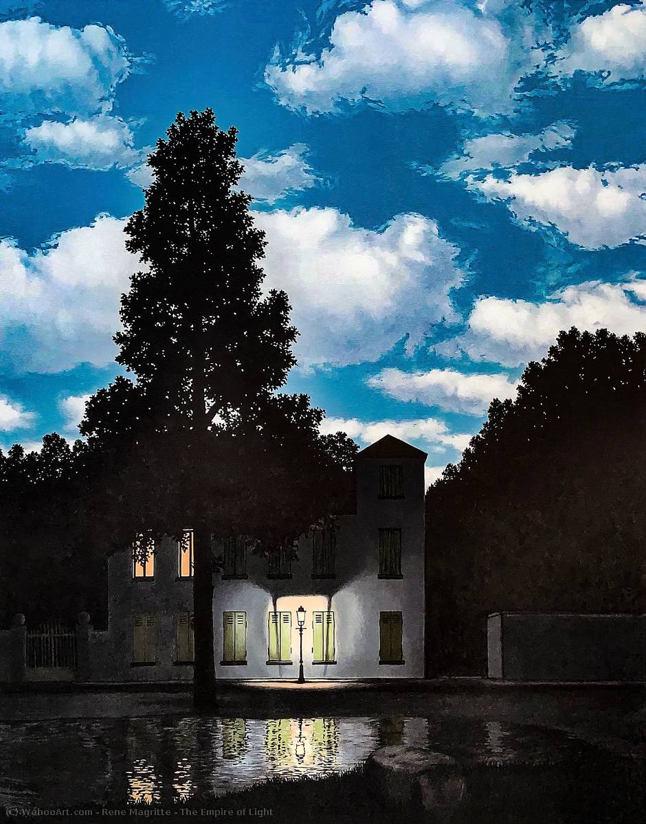 | el imperio de la luz de Rene Magritte | Most-Famous-Paintings.com