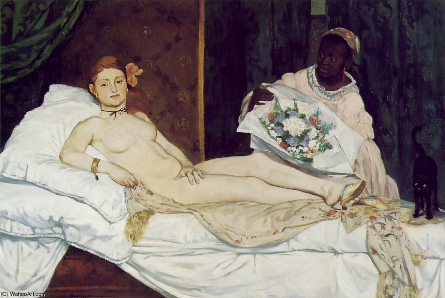 famous painting Olimpia , Museo d'Orsay , París of Edouard Manet