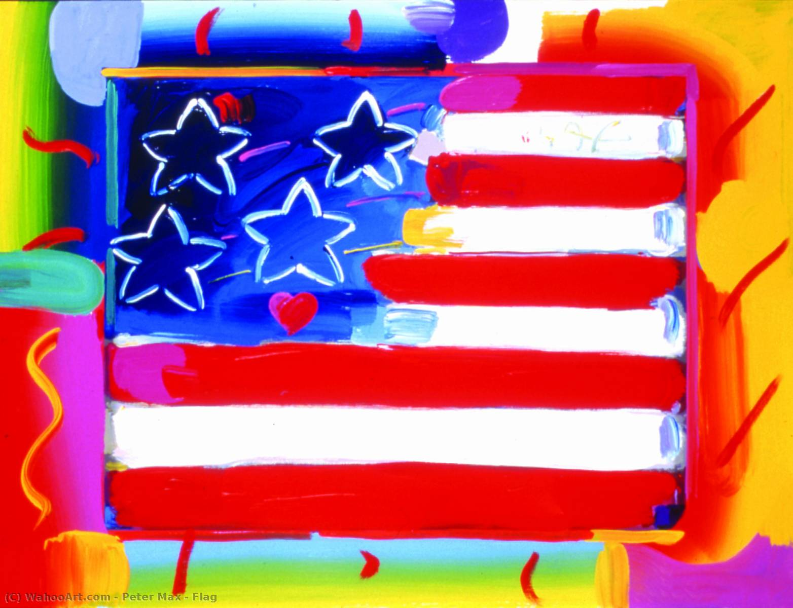 famous painting bandera of Peter Max
