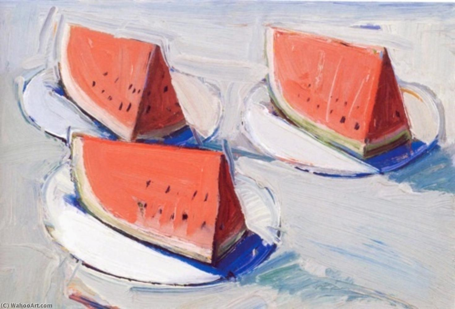 famous painting Sandia grande of Wayne Thiebaud