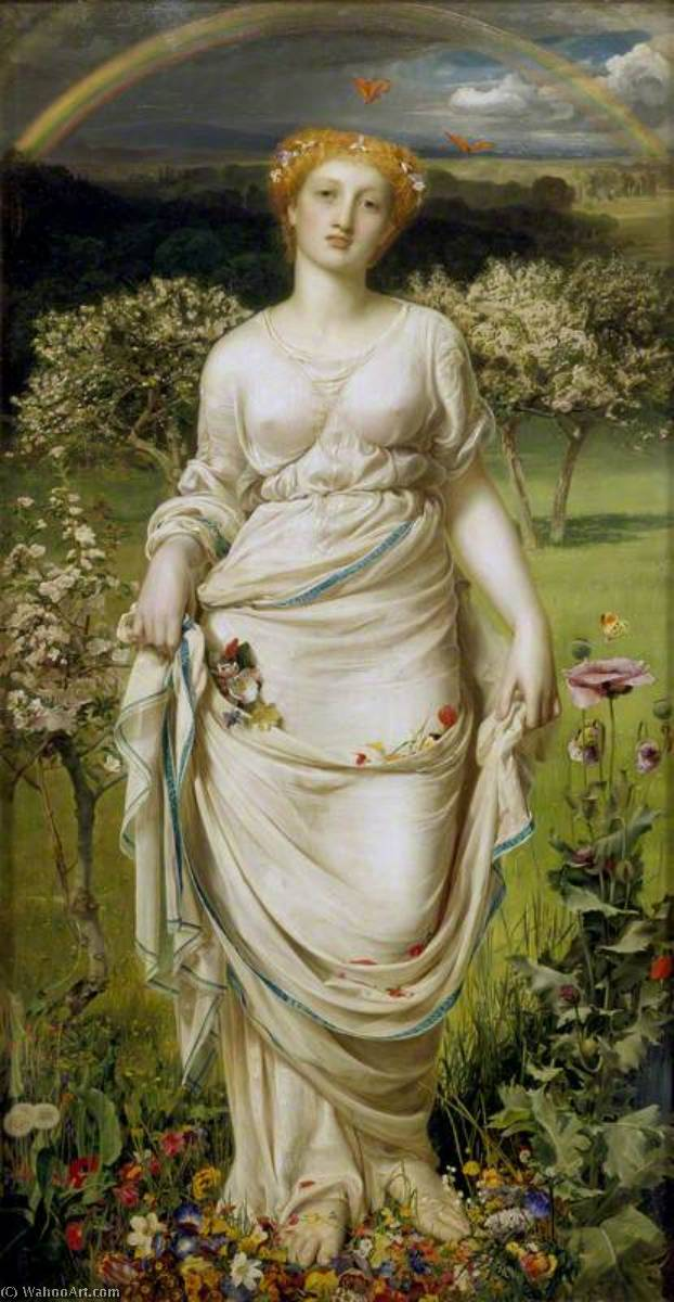 famous painting suave primavera of Anthony Frederick Augustus Sandys