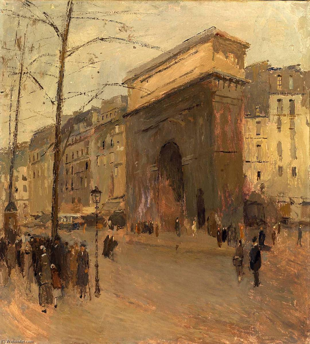 Pedir Reproducciones De Bellas Artes | Puerta San . Denis de Frank Edwin Scott | Most-Famous-Paintings.com