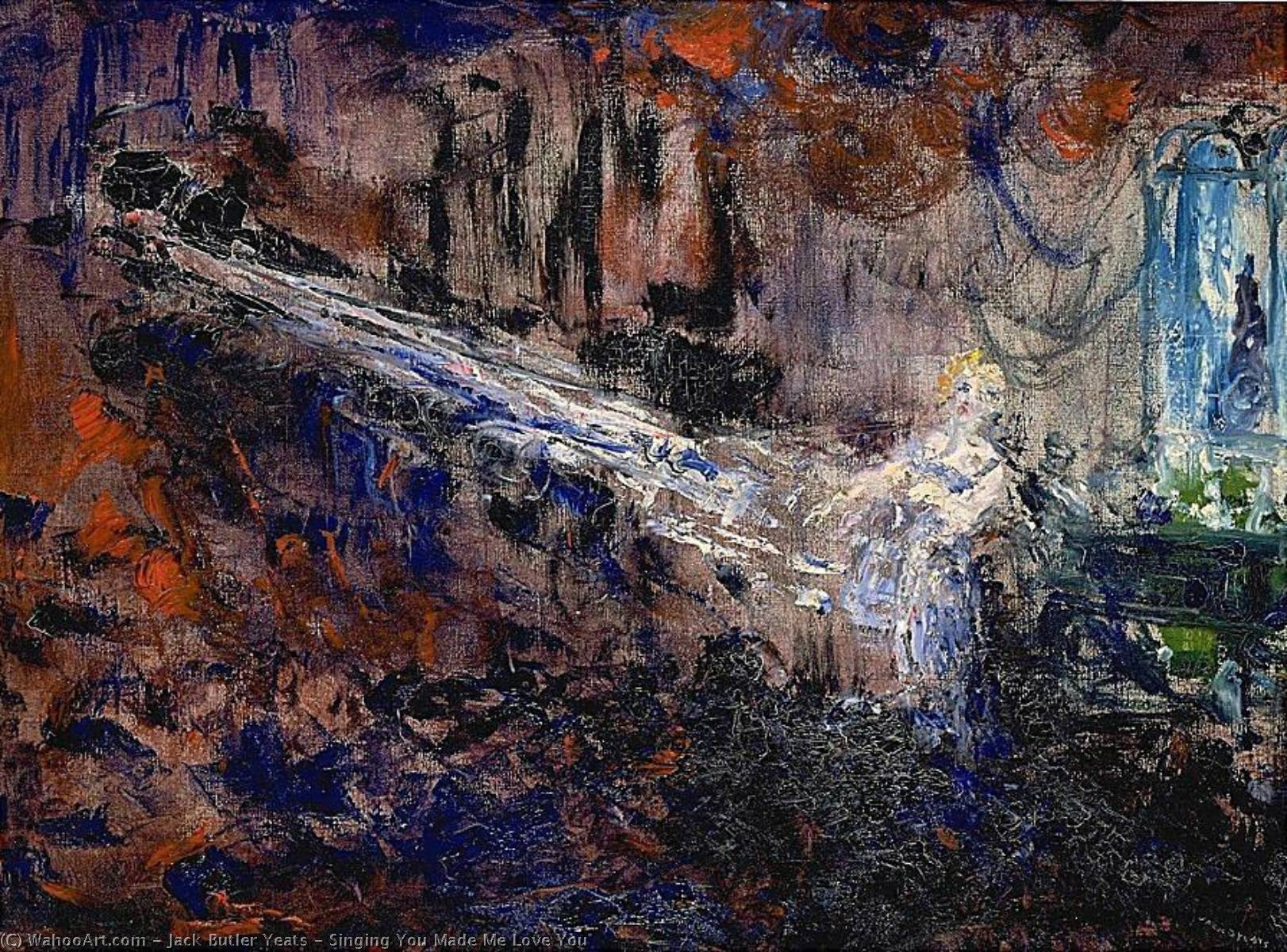 famous painting canto tú  hecho  yo  amor  tú  of Jack Butler Yeats